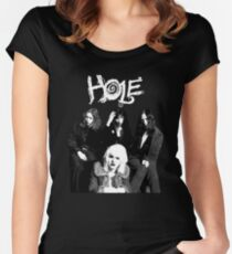 hole - courtney love - with text Women's Fitted Scoop T-Shirt