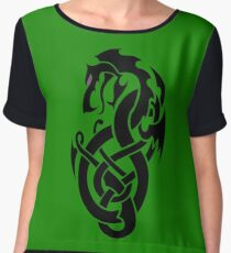 Celtic dragon totem Chiffon Top