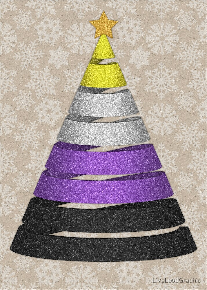 Non-Binary Faux Glitter Christmas Tree by LiveLoudGraphic