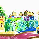 Edinburgh Castle from the West end by Helen Imogen Field