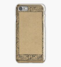 Antique bookcover with floral frame iPhone Case/Skin