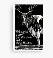 Happy Moo Year! Canvas Print
