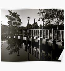 Reflection under the Boardwalk Poster