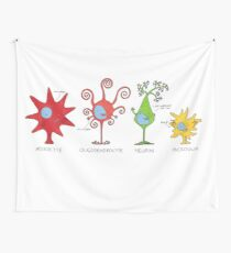 Meet your brain cells! - WIDE Wall Tapestry