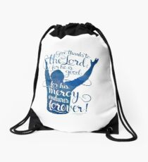 Give Thanks to the Lord Drawstring Bag