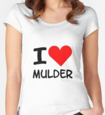 I Heart Mulder X-FIles Women's Fitted Scoop T-Shirt