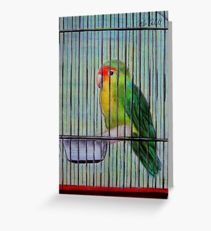 Bird in a Cage Greeting Card