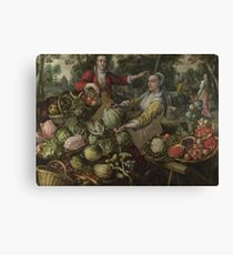 The Four Elements - Earth by Joachim Beuckelaer Canvas Print