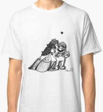 Peach and Mario Valentines Classic T-Shirt