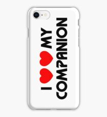 I Two-Heart My Companion Design (White) iPhone Case/Skin