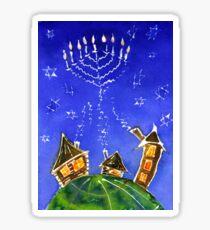 Hanukkah Batik Sticker