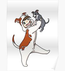 Pit bull and Puppy! Poster
