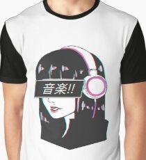 Music! - Sad Japanese Aesthetic Graphic T-Shirt