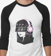 Music! - Sad Japanese Aesthetic Men's Baseball ¾ T-Shirt