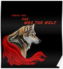 Red ridinghood  wolf  Poster