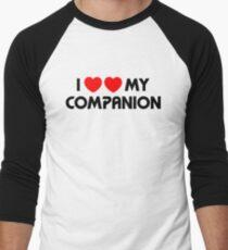 I Two-Heart My Companion Design (White) Men's Baseball ¾ T-Shirt