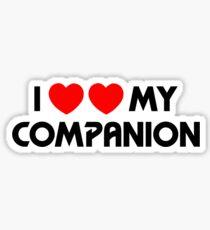 I Two-Heart My Companion Design (White) Sticker