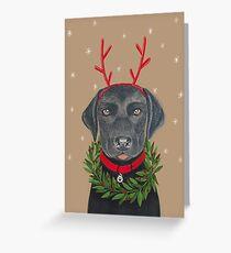 Christmas Lab Greeting Card