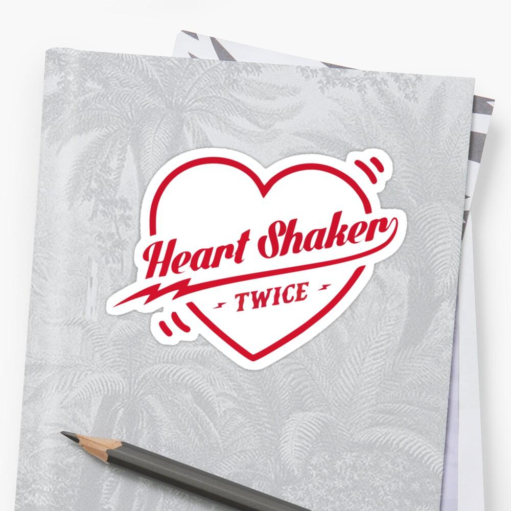 Quot Twice Heart Shaker Logo Quot Sticker By Kpopbuzzer Redbubble