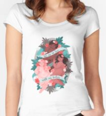 We Are In Love With Our Bodies  Women's Fitted Scoop T-Shirt