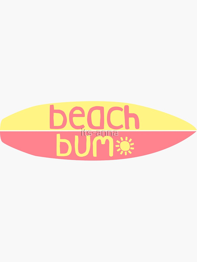 Beach Bum (rosa / amarillo) de its-anna