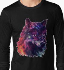 Galaxy Wolf Long Sleeve T-Shirt