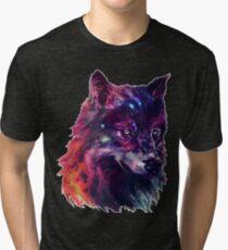Galaxy Wolf Tri-blend T-Shirt