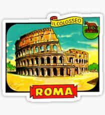 Der Weinlese-Reise-Abziehbild Kolosseums Rom Italien Sticker