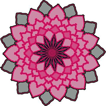Pink and black lotus flower by StellaPortalis