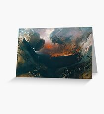 The Great Day of His Wrath by John Martin Greeting Card