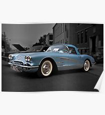1958 Chevrolet Corvette Poster