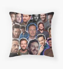 armie hammer collage Throw Pillow
