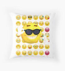 emoji sunglasses, emoji funny, emoji sunglasses and sun Floor Pillow