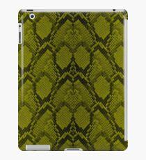 Goldene gelbe und schwarze Pythonschlangen-Haut-Reptil-Skalen iPad-Hülle & Klebefolie