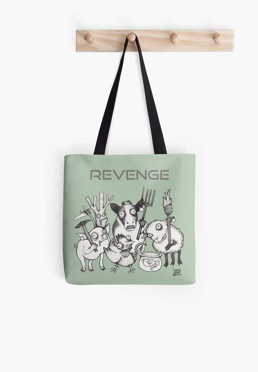 Nature Revenge: The Takeover TOTE Illustration by Jennifer Latham Robinson - Ditch Frame by DitchFrame