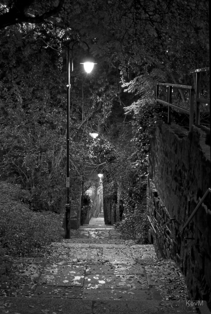 Long Stairs at Night by KevM