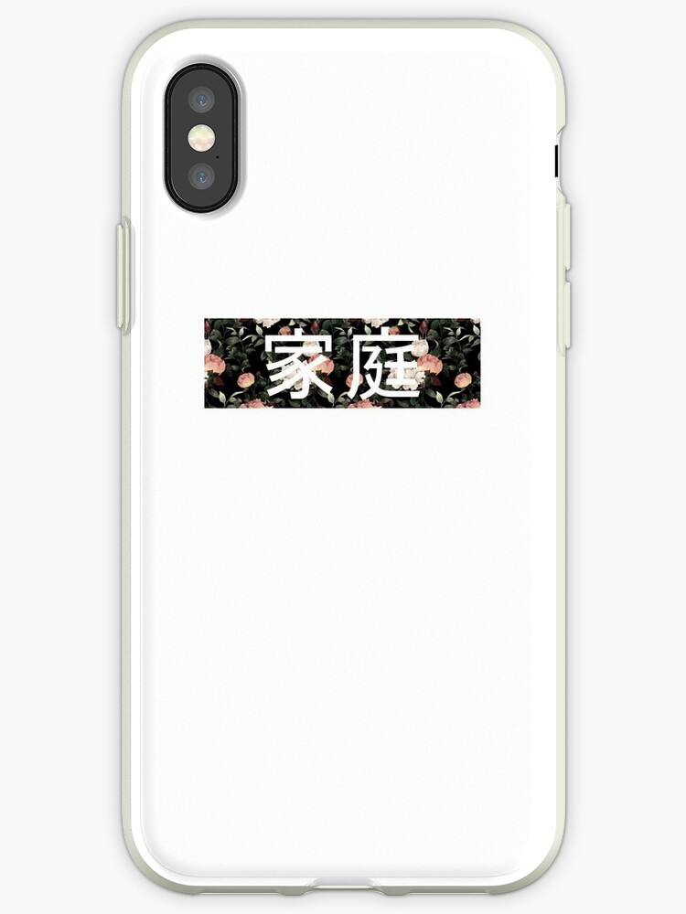 new style d6981 5b21f 'Family In chinese - Box Logo (Floral Supreme)' iPhone Case by FlyGraphics