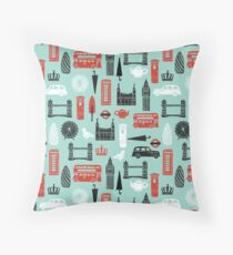 London Block Print by Andrea Lauren Throw Pillow