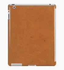 Vintage brown mottled paper iPad Case/Skin