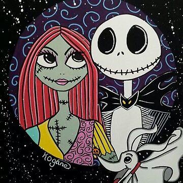Jack skellington and Sally by KittyOG1