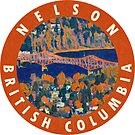 Nelson British Columbia Vintage Travel Decal by hilda74