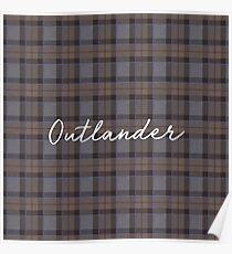 Outlander tartan Poster