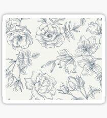 Black White spring flowers Sticker