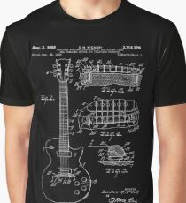 Gibson Les Paul Guitar Patent White Graphic T-Shirt