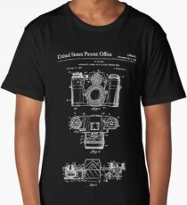 Camera Patent White Long T-Shirt