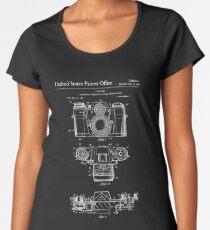 Camera Patent White Women's Premium T-Shirt