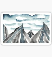 Abstract Mountain Study 2 Blue Grey Sticker