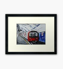 London Underground Northern Line Subway Train Acrylics Framed Print