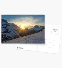 peaking sunset  Postcards