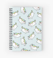 Cuaderno de espiral Rainbow Unicorn Cat